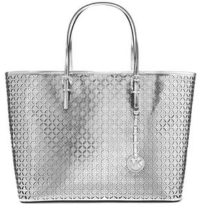 Michael Kors Flower Perforated Travel Tote